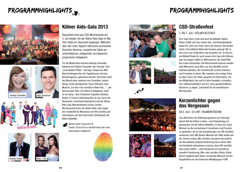 ColognePride Programmheft 2013
