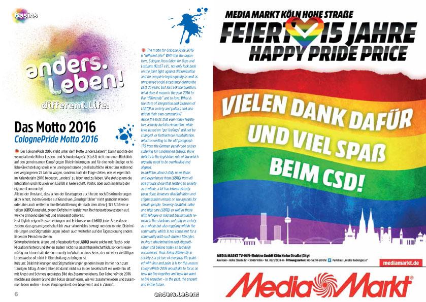 ColognePride Programmheft 2016
