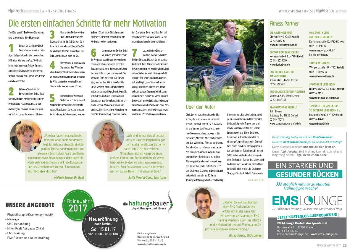 """Ausgabe Winter 2017 """"Fit ins neue Jahr"""""""