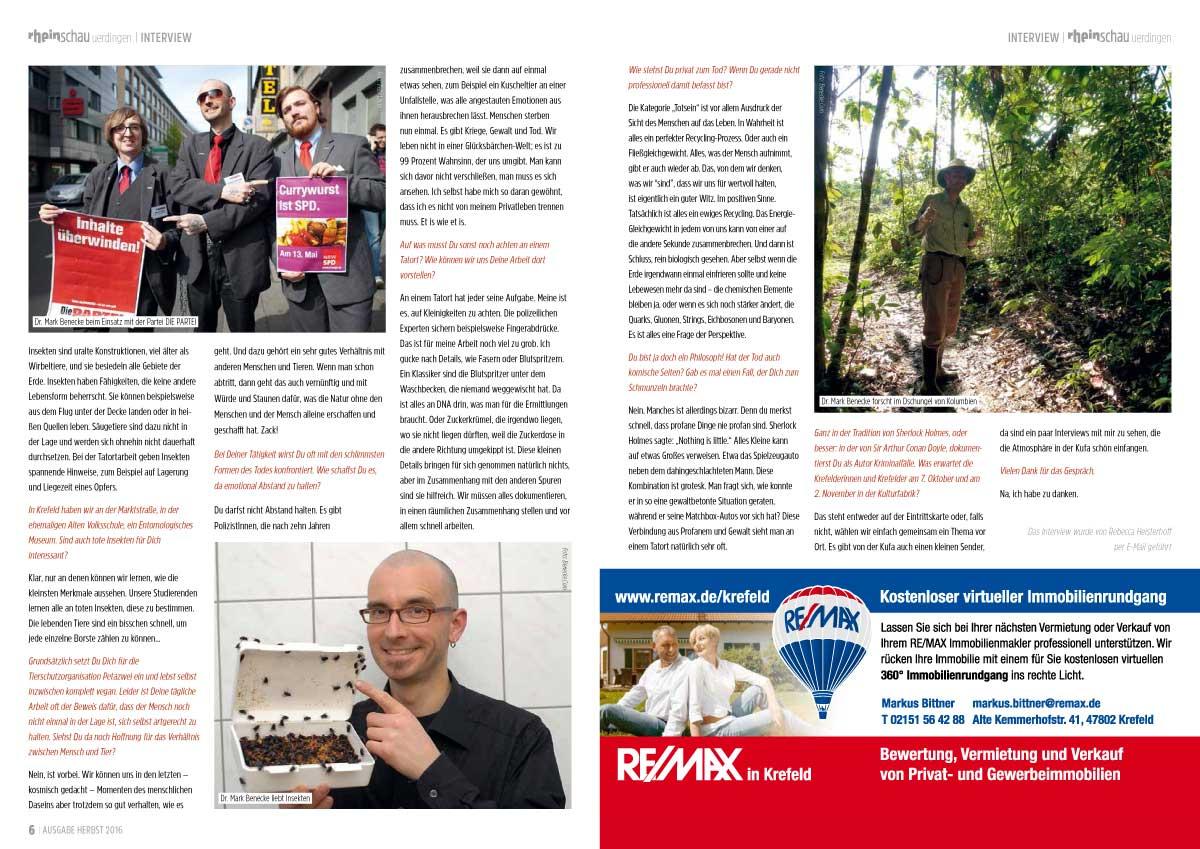 Ausgabe Herbst 2016 Interview Mark Benecke