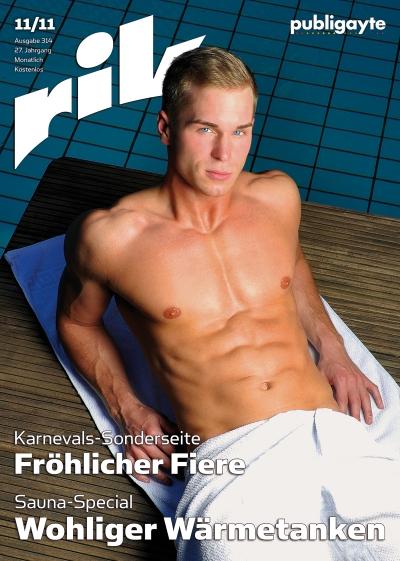 Editorial Design: Cover rik 11.11 / Foto: TeeJott