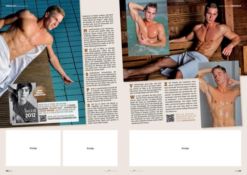 Editorial Design: rik 11.11 / Sauna-Special / Fotos: TeeJott
