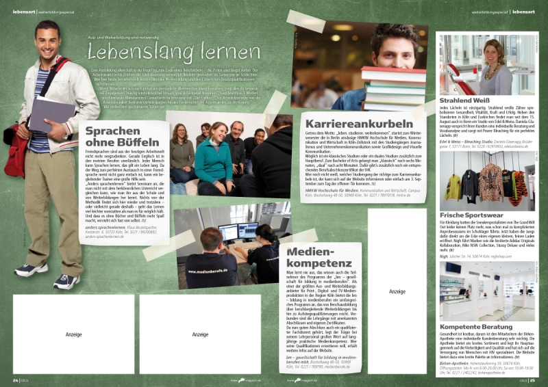 Editorial Design: rik 09.11 / Weiterbildung-Special / Fotos: thinkstock / PR
