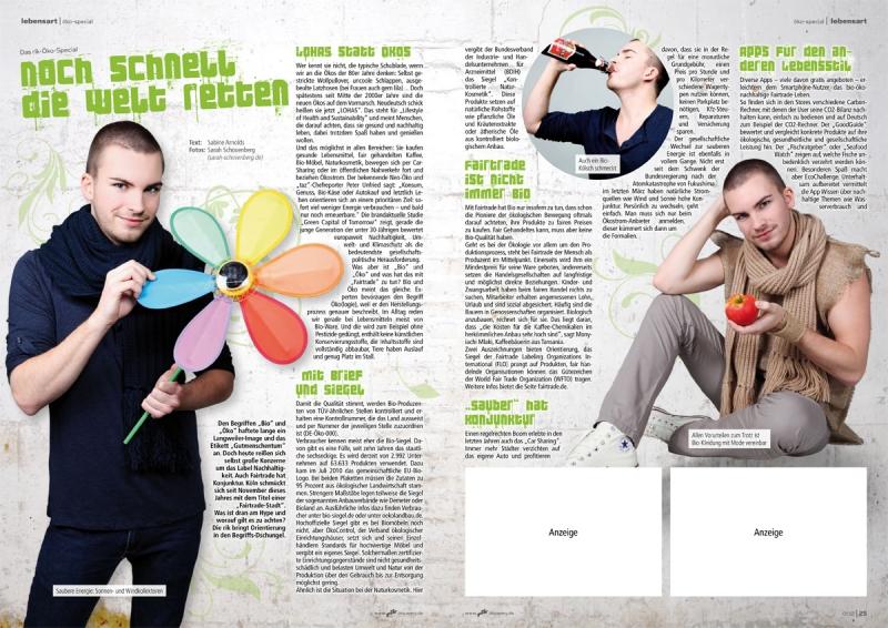 Editorial Design: rik 01.12 Öko-Special / Fotos: Sarah Schovenberg