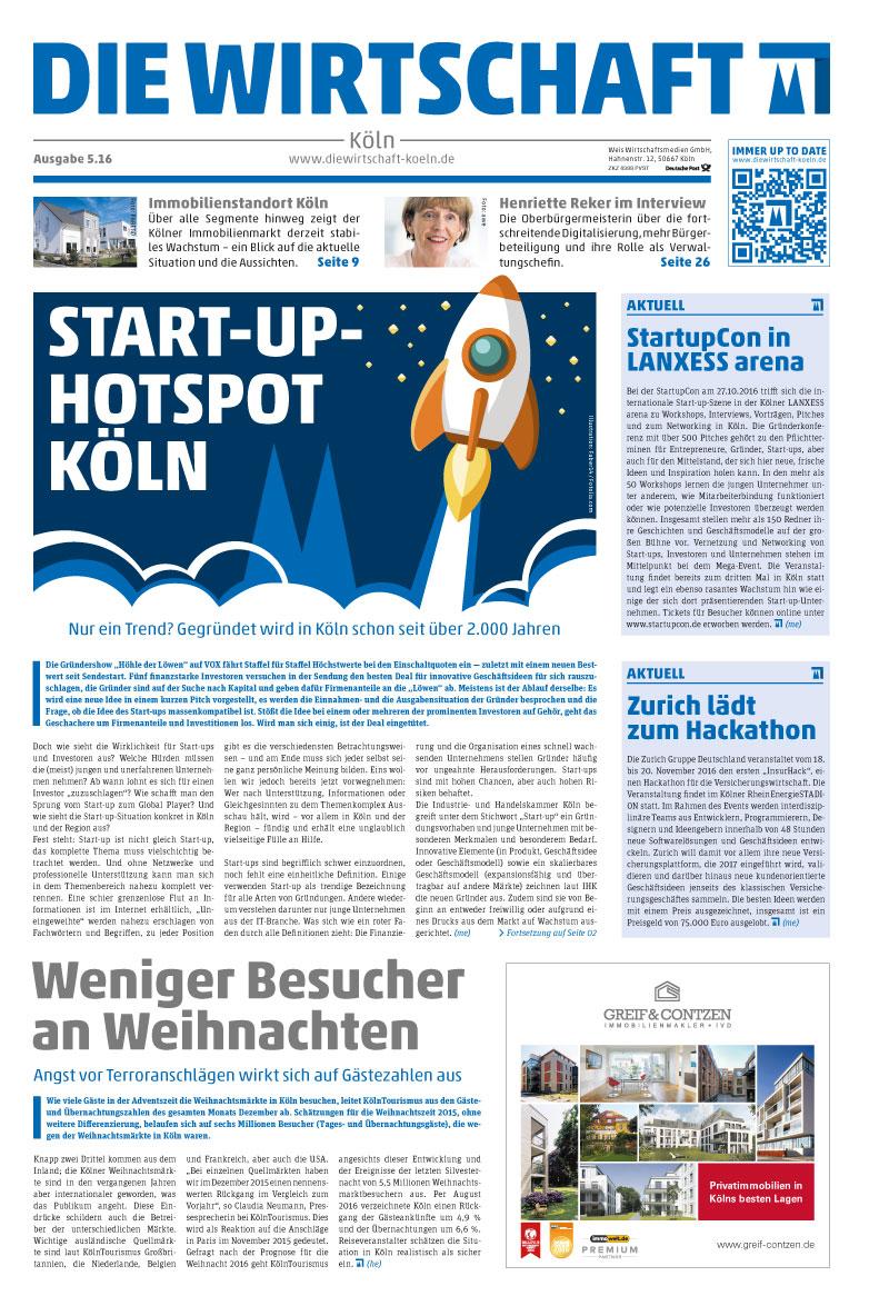 Die Wirtschaft Cover 05.16