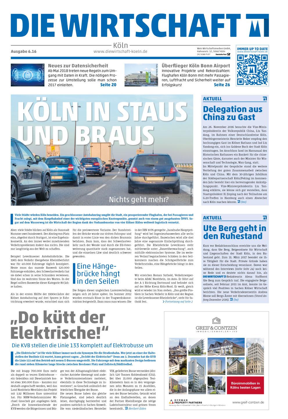 Die Wirtschaft Cover 06.16