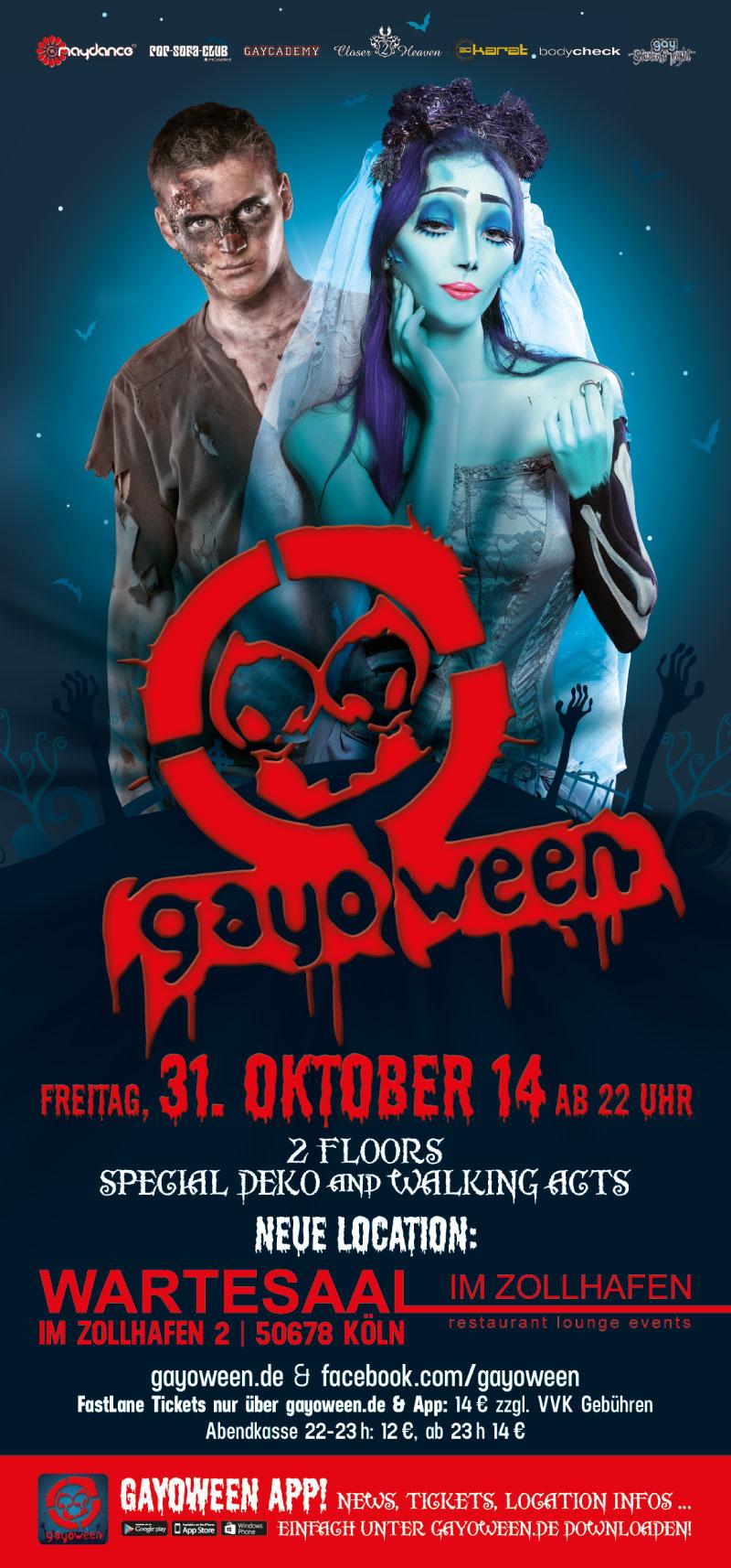 GAYOWEEN 2014 Flyer vorne