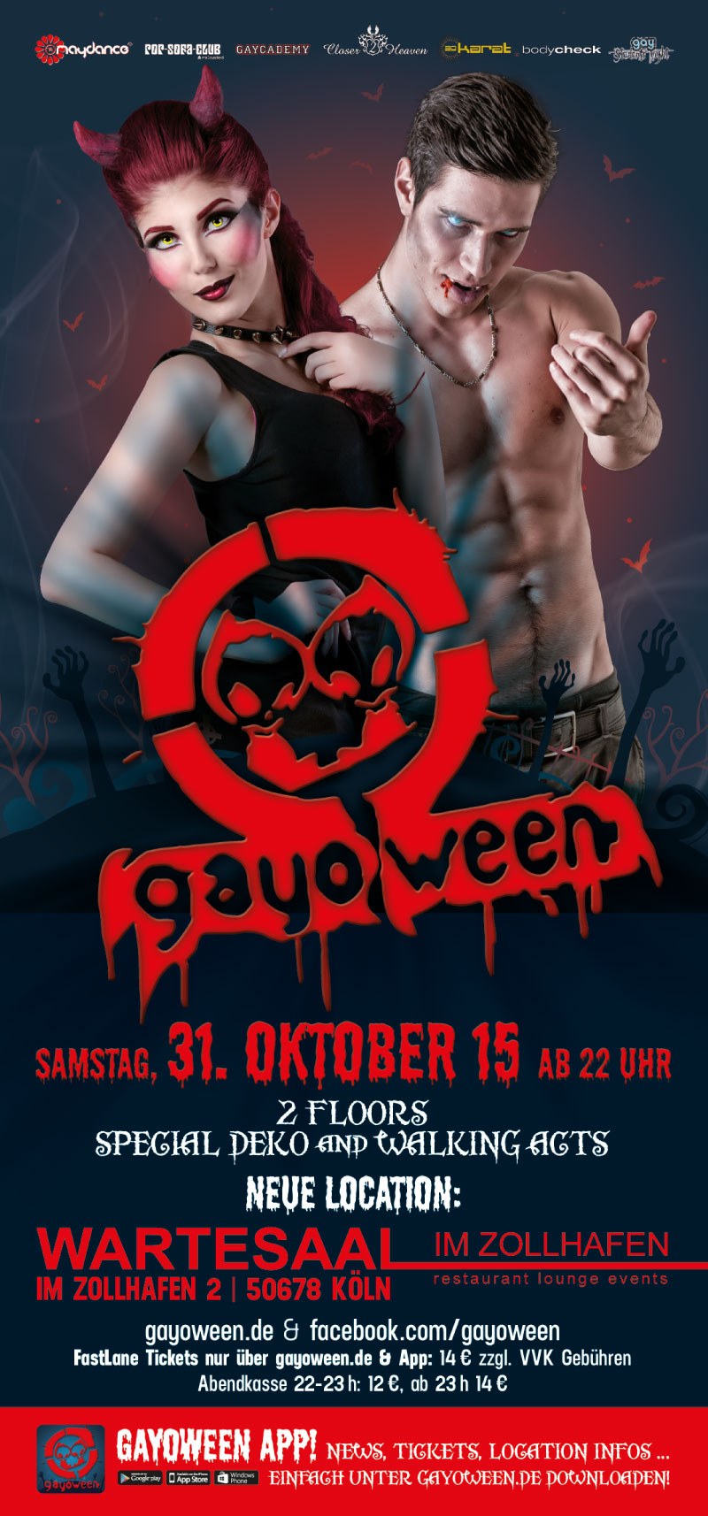 GAYOWEEN 2015 Flyer vorne