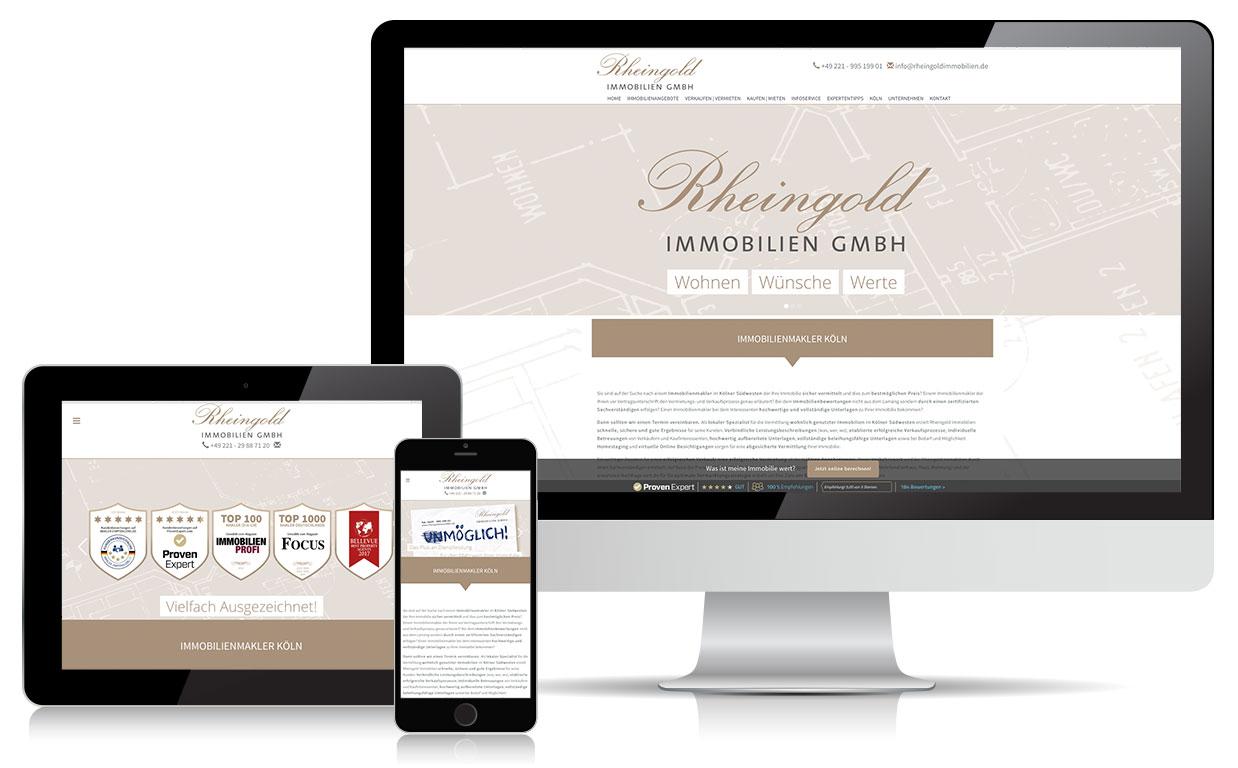 Webdesign rheingoldimmobilien.de