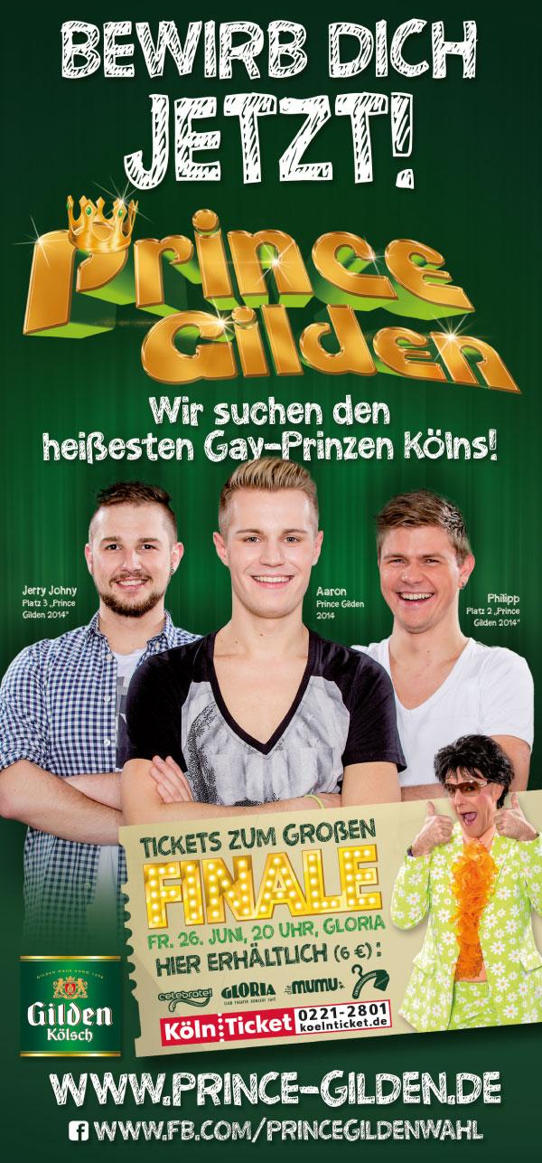 """Prince Gilden 2015 """"Bewirb Dich jetzt!"""" Flyer DIN lang vorne"""