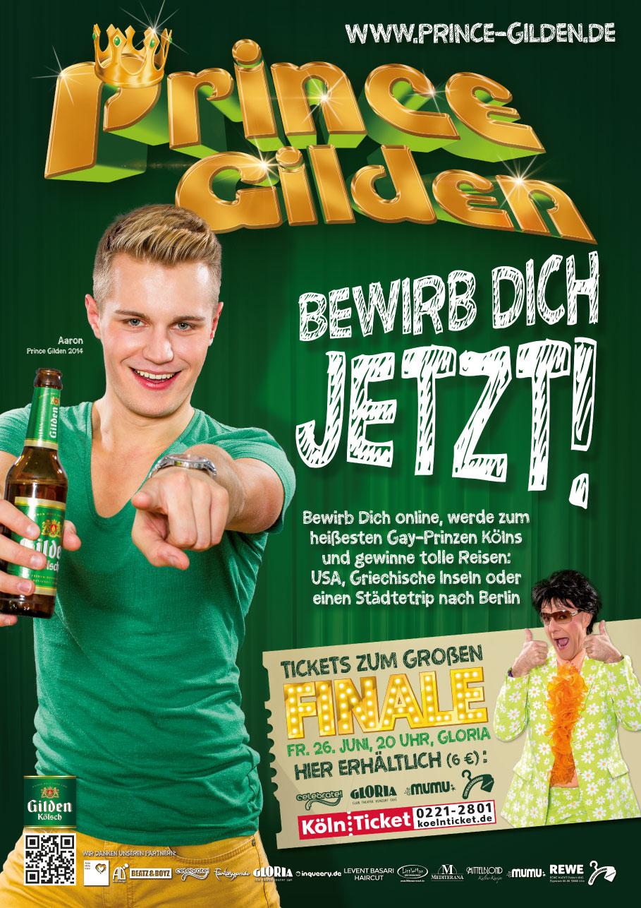 """Prince Gilden 2015 """"Bewirb Dich jetzt!"""" Plakat A2"""