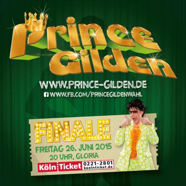 Prince Gilden 2015 Bierdeckel vorne
