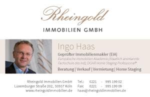 Rheingold Immobilien Visitenkarte