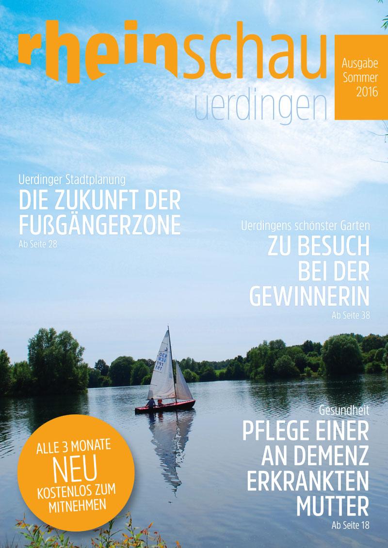 rheinschau Cover Ausgabe Sommer 2016