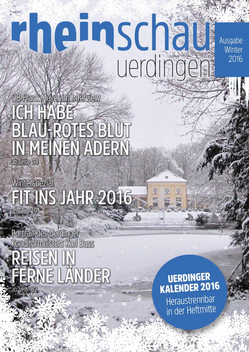 rheinschau Cover Ausgabe Winter 2016