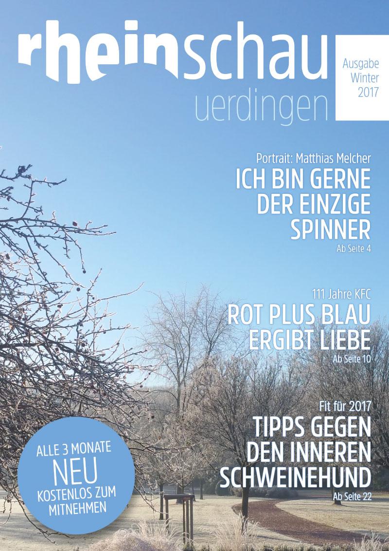 rheinschau Cover Ausgabe Winter 2017