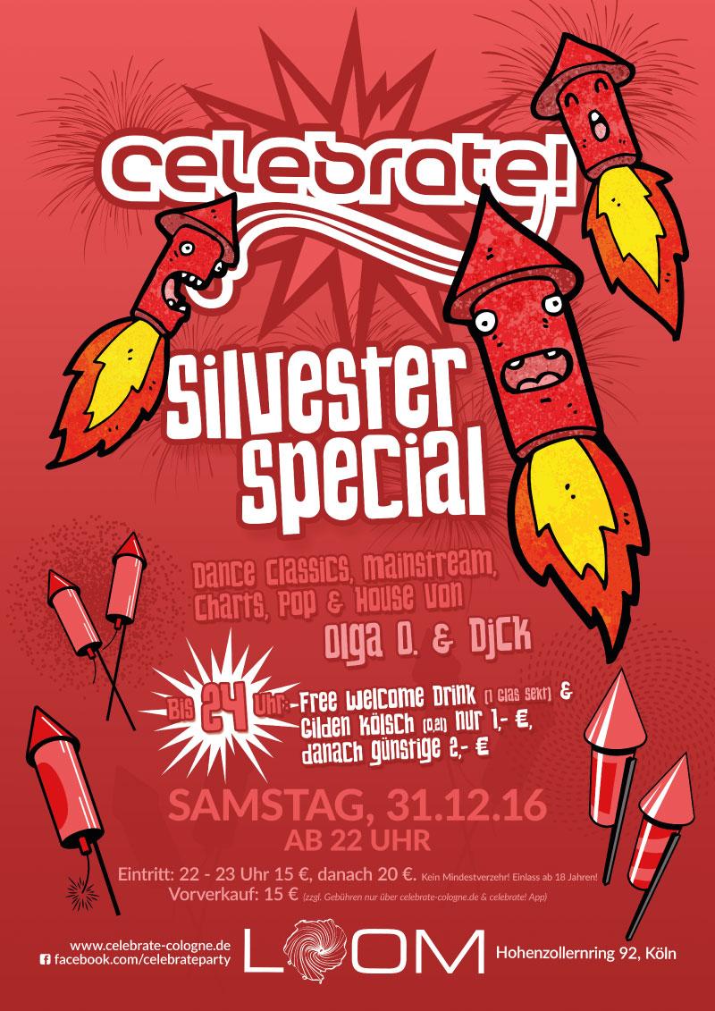 celebrate! Silvester 2016/17 Plakat A2