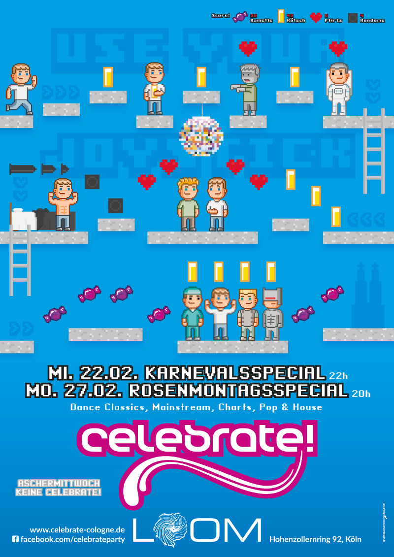 "celebrate! ""Use your Joystick"" Plakat A2"