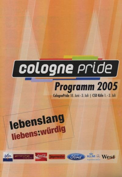 ColognePride Programmheft 2005