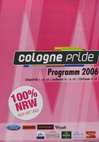 ColognePride Programmheft 2006