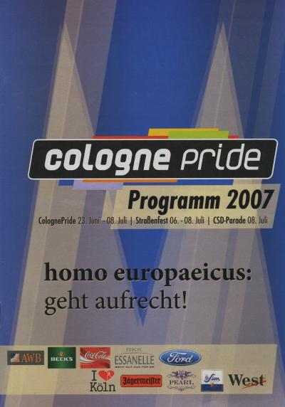 ColognePride Programmheft 2007