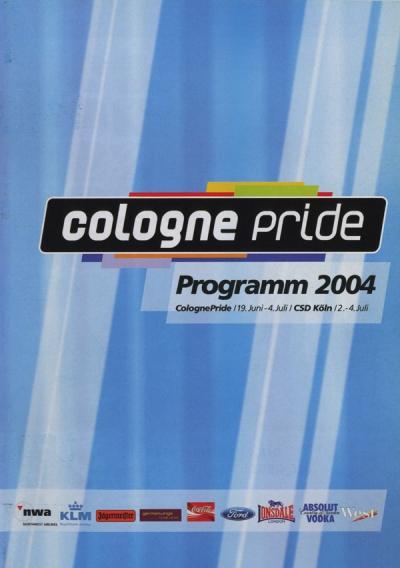 ColognePride Programmheft 2004