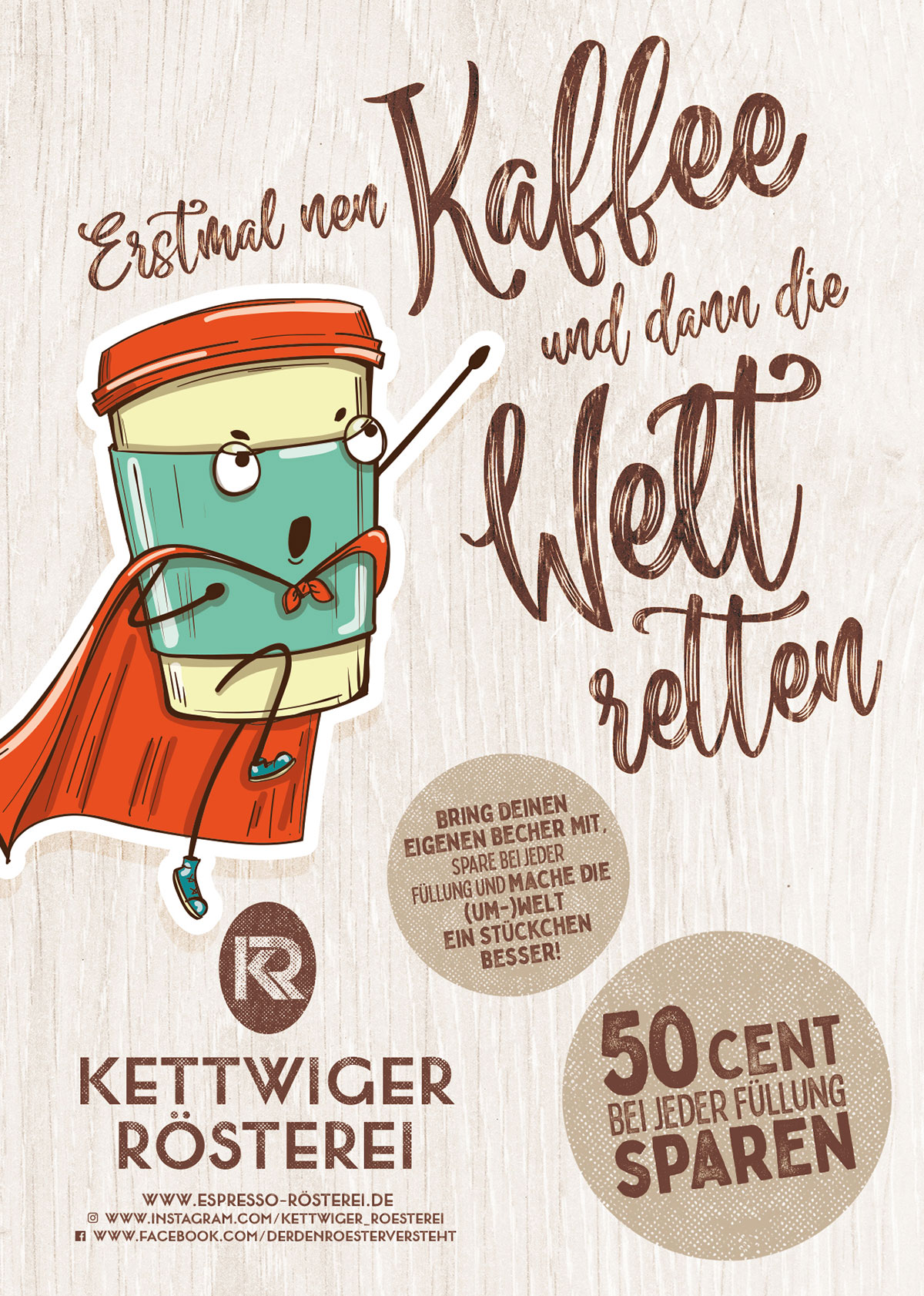 "Flyer DIN A6 ""Save the World"" vorne"