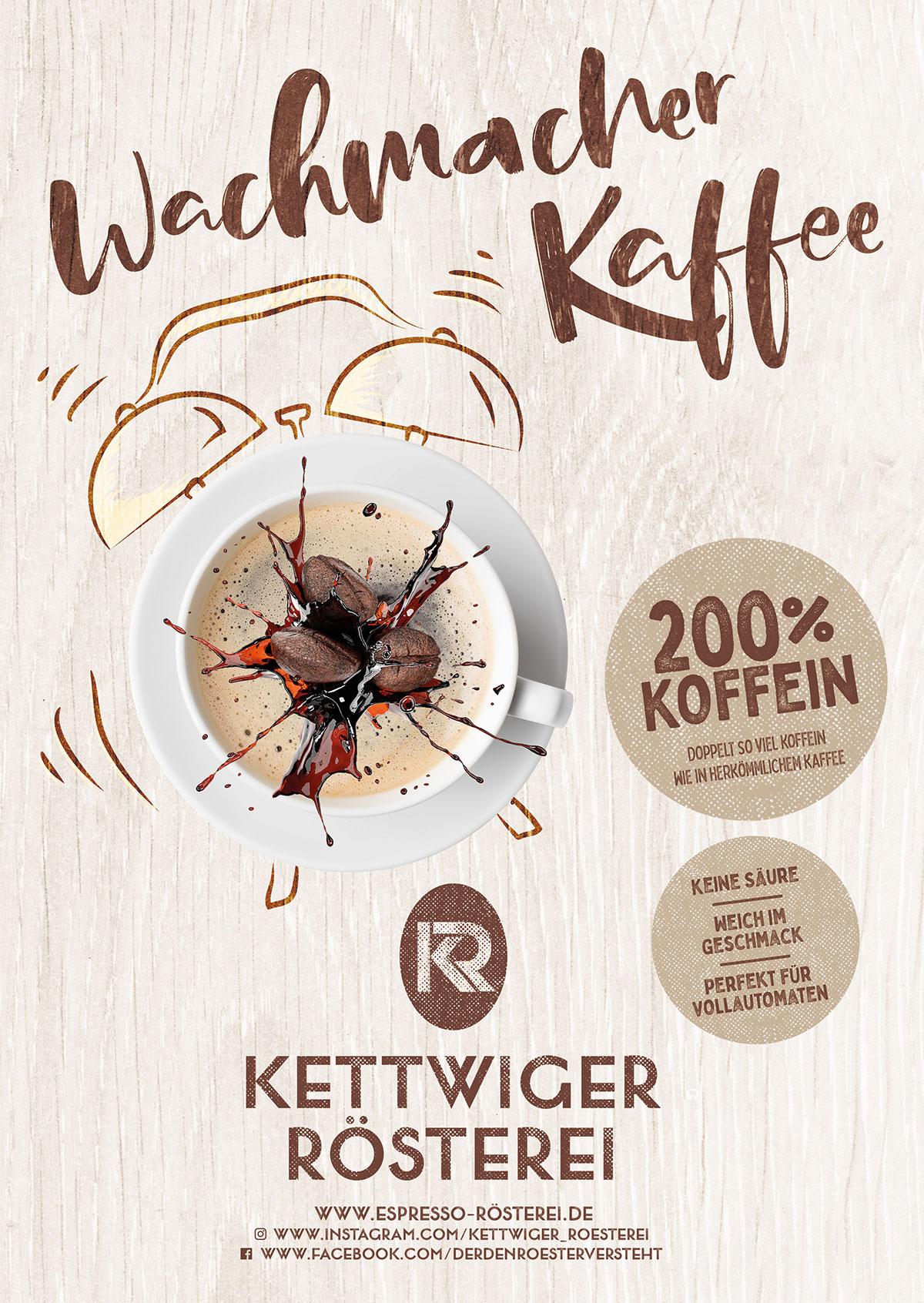 Beileger Wachmacher Kaffee vorne