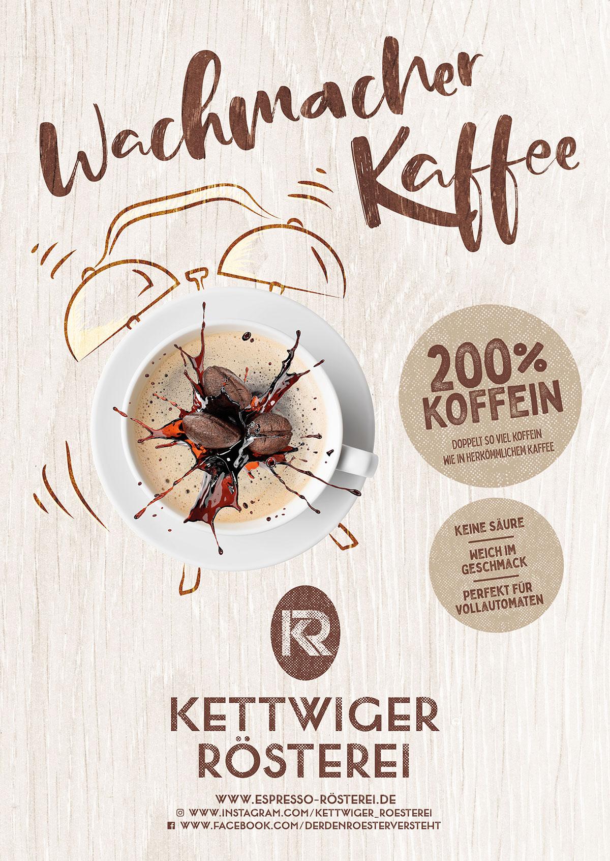 Kundenstopper Wachmacher Kaffee