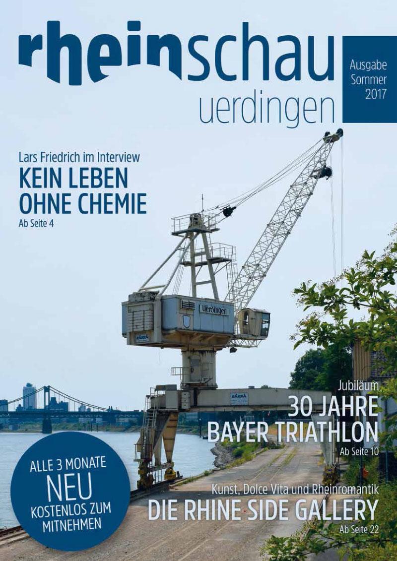 "Editorial Design: Stadtmagazin ""rheinschau Uerdingen"""