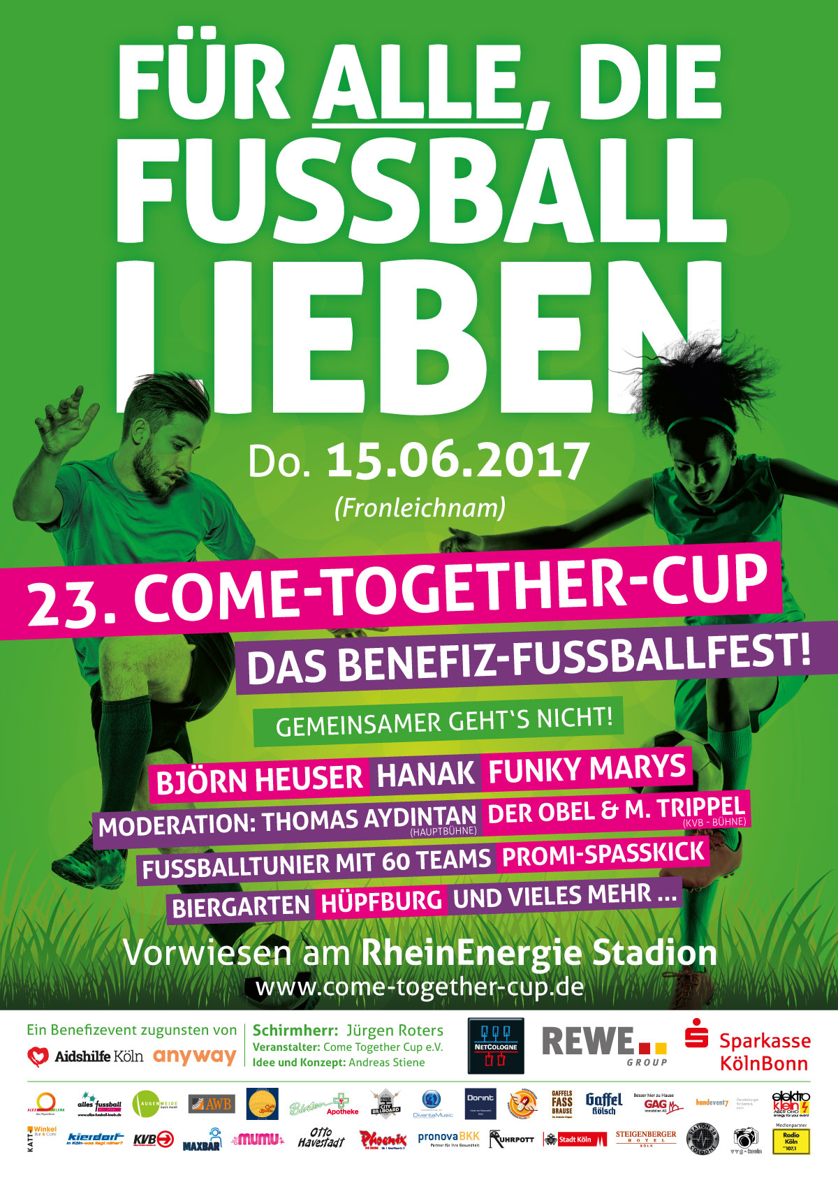 Editorial Design COME-TOGETHER-CUP Programmheft