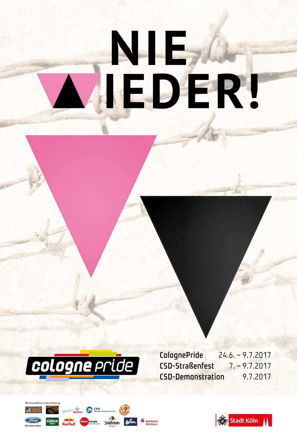 Citylight-Plakat ColognePride 2017