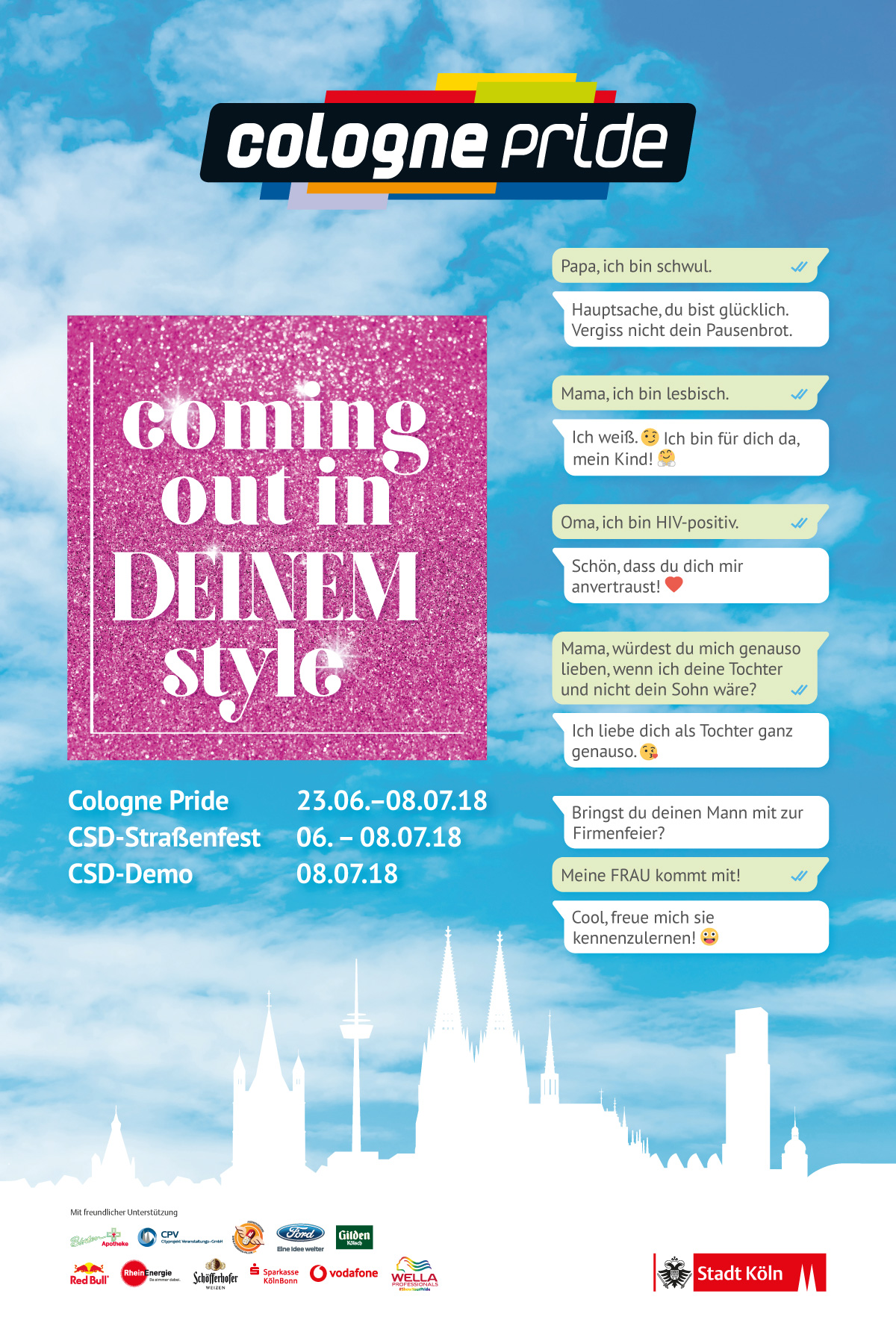 Citylight-Plakat ColognePride 2018