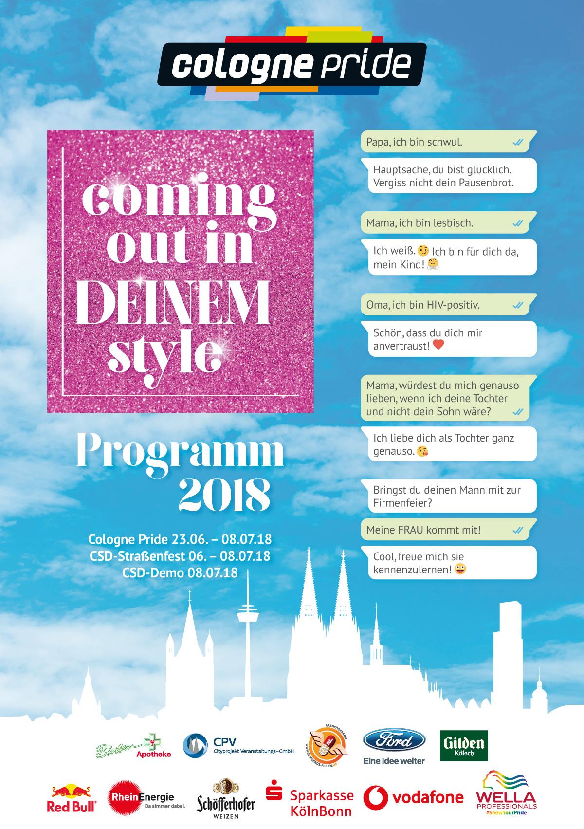 ColognePride Programmheft 2018 Cover