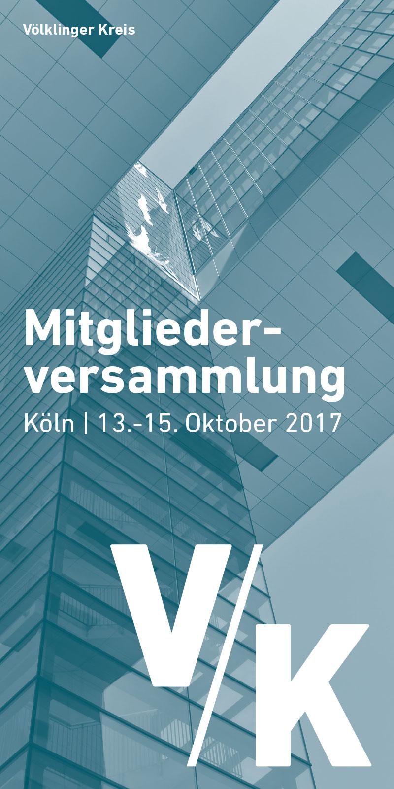 Editorial Design: Programmheft der Mitgliederversammlung des Völklinger Kreis