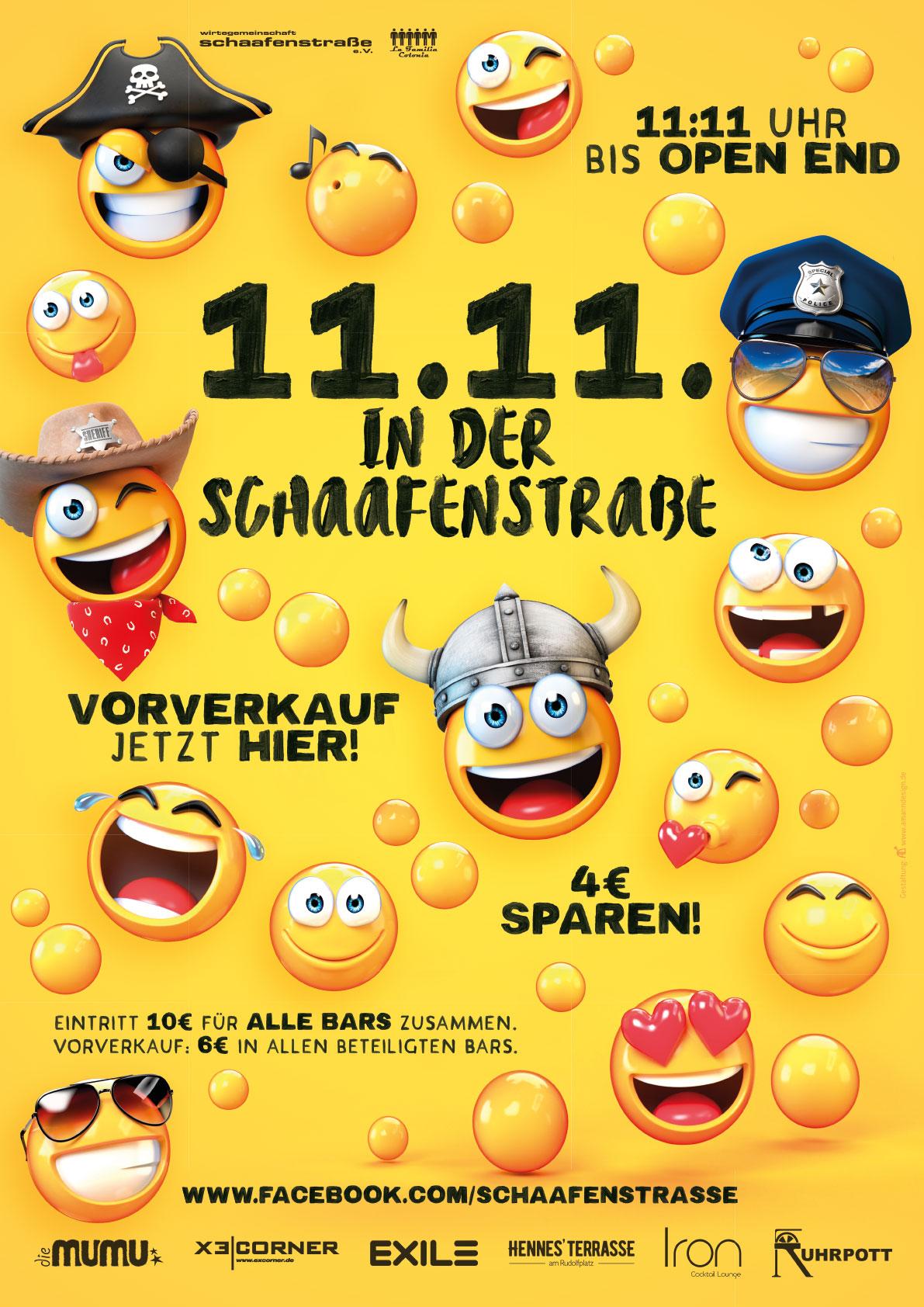 11.11. in der Schaafenstraße 2019