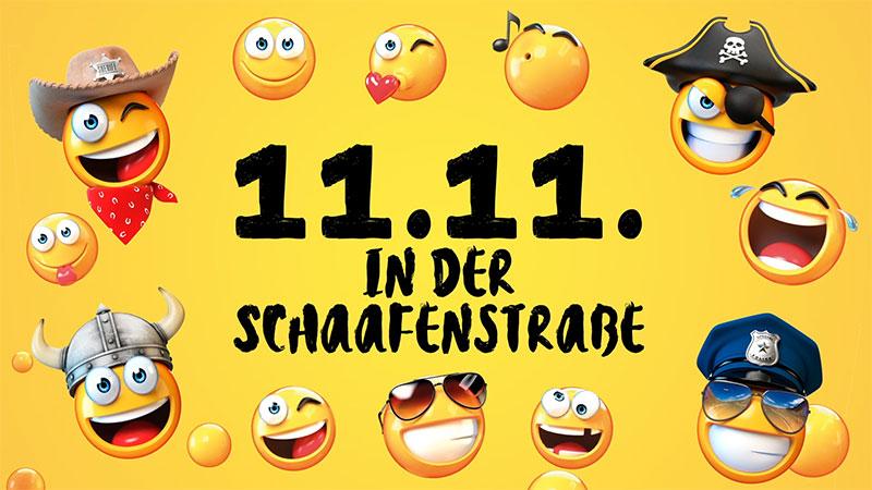 11. 11. in der Schaafenstraße