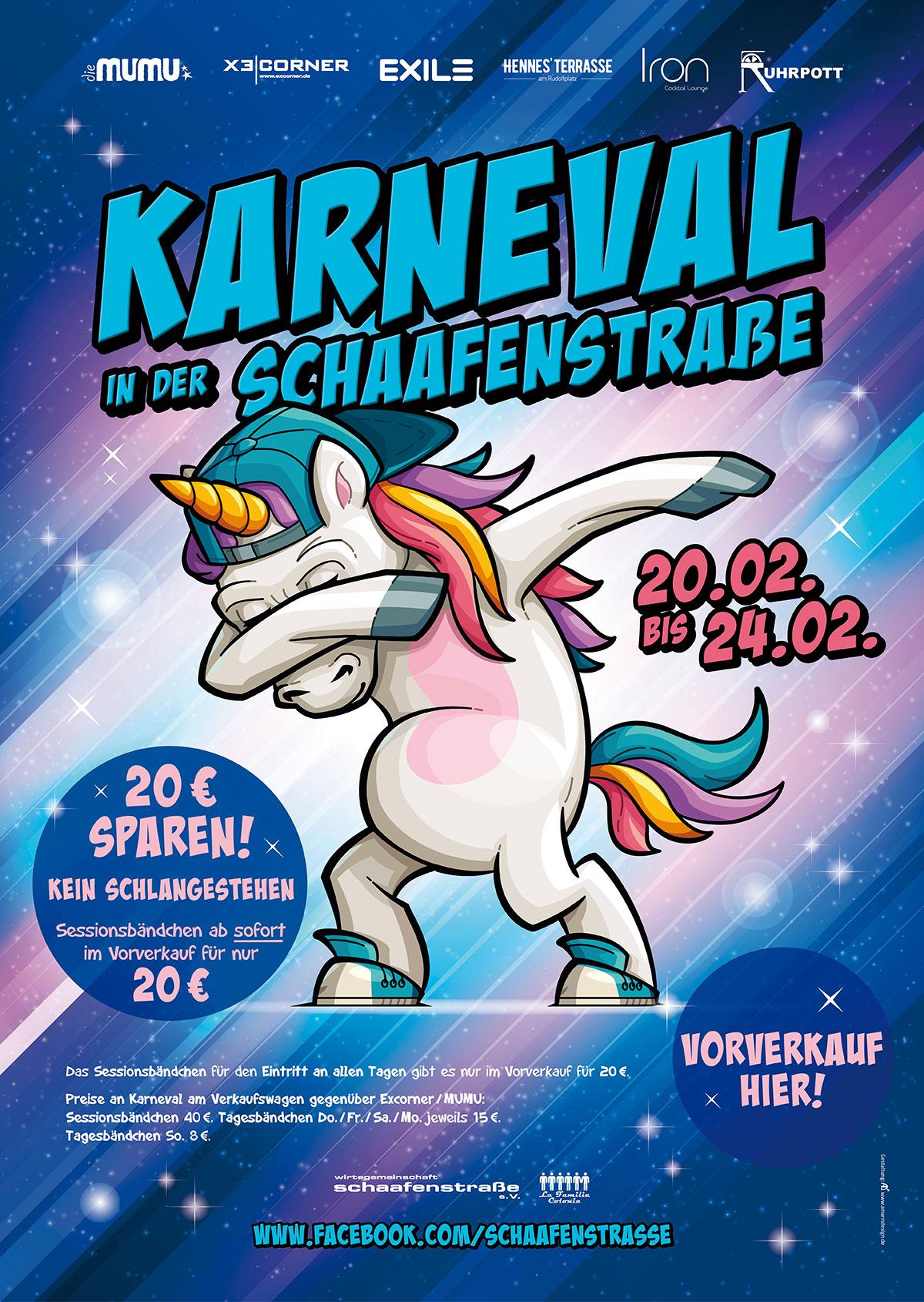 Karneval in der Schaafenstraße 2020