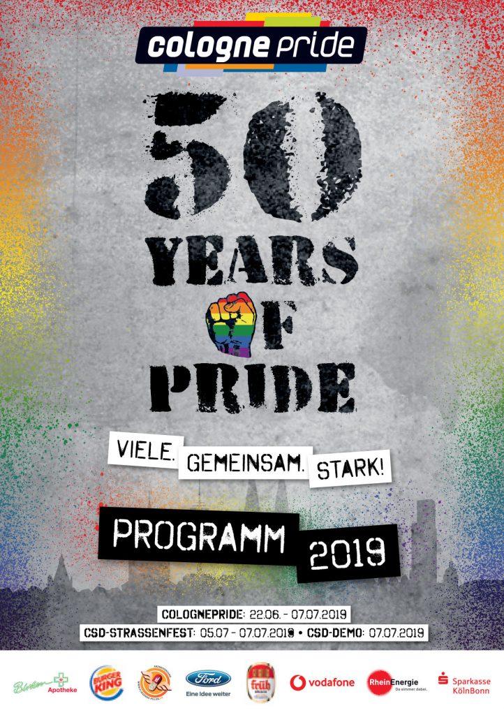 Programmheft ColognePride 2019 Cover