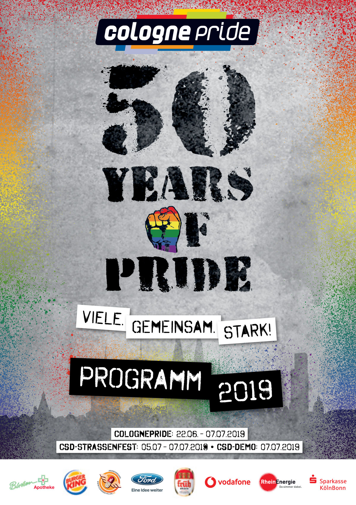 Programmheft ColognePride 2019 Cover